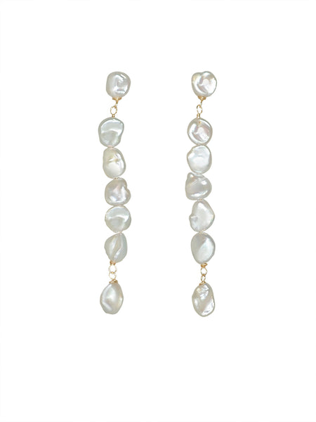 Natural Baroque Pearl Earrings - Marble Hive