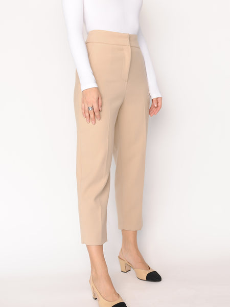 Beige Cropped Pants - Marble Hive