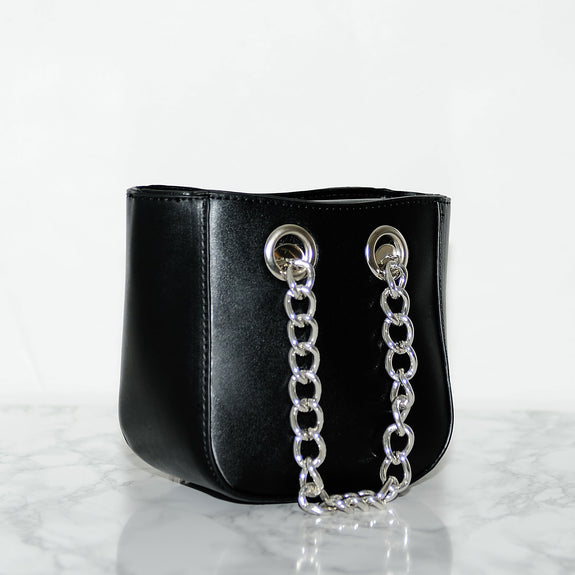 Mini Black Chain Bag - Marble Hive