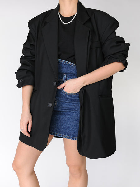 Black Original Oversized Tailored Blazer - Marble Hive