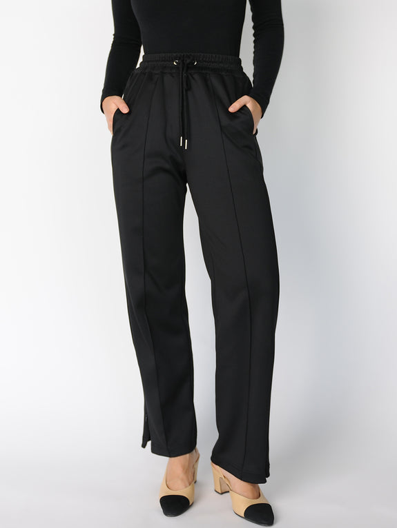 Black Tailored Track Pants - Marble Hive