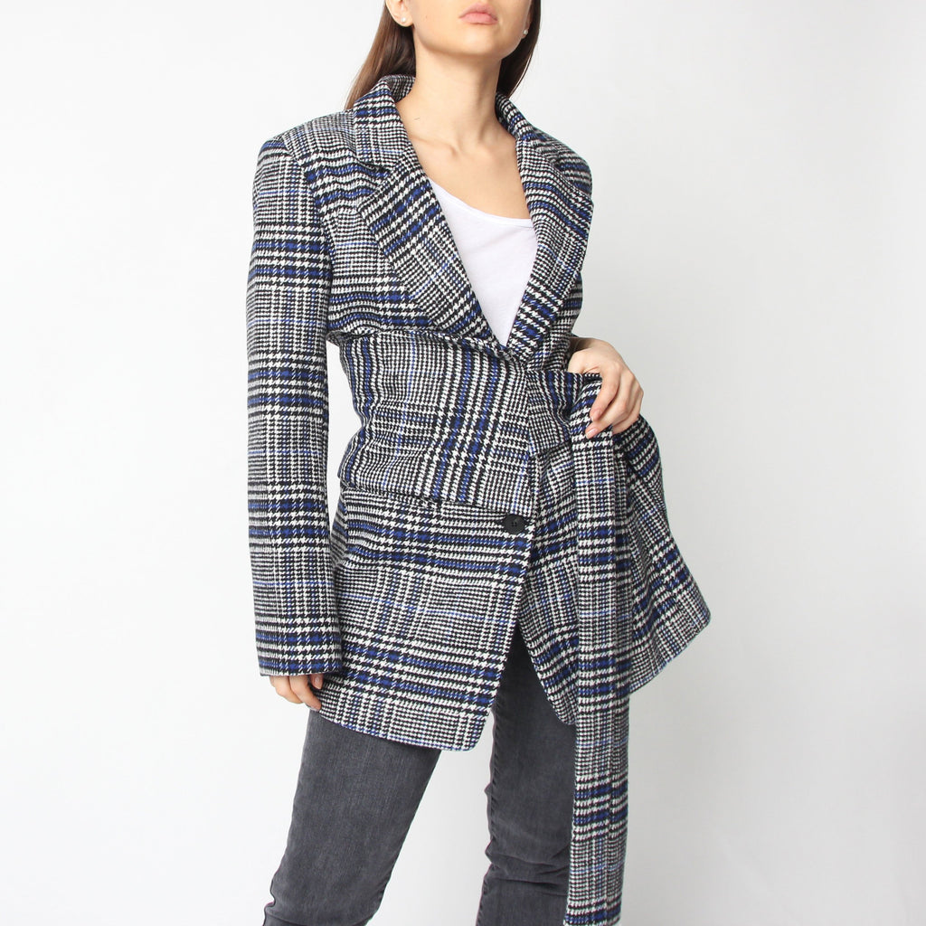 Blue Check Blazer Belt Set - Marble Hive
