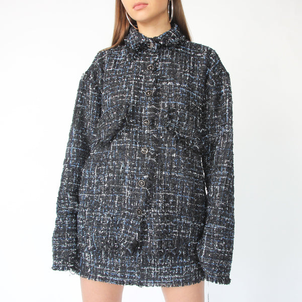 Blue Tweed Blazer/Shirt - Marble Hive
