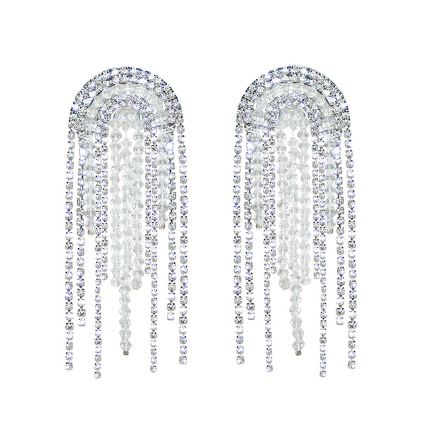 Crystal Rhinestone Statement Earrings - Marble Hive