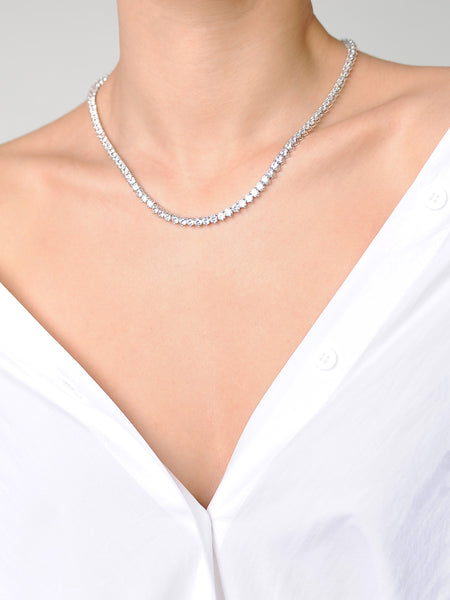 Diamente Necklace Round Setting - Marble Hive