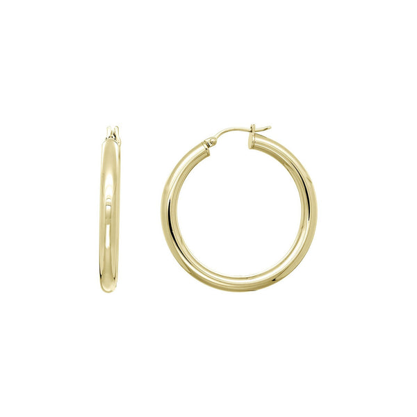 Selena Gold Hoop Earrings Large - Marble Hive