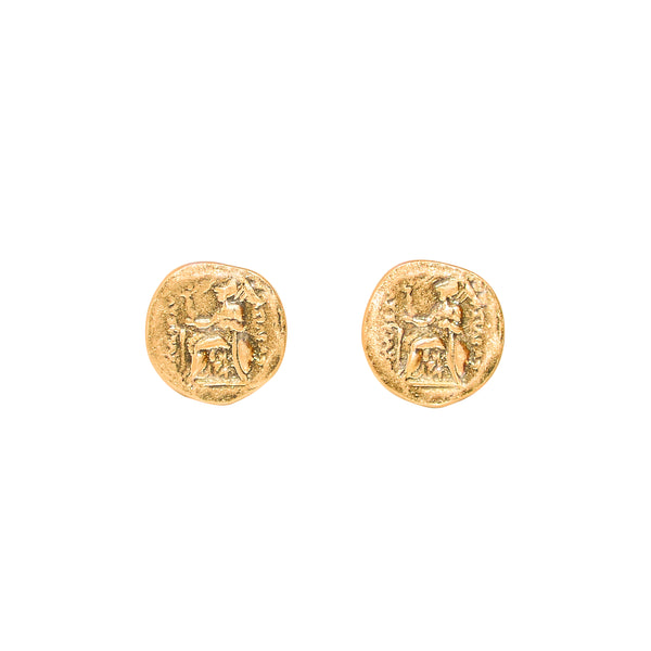 Egyptian Coin Earrings - Marble Hive
