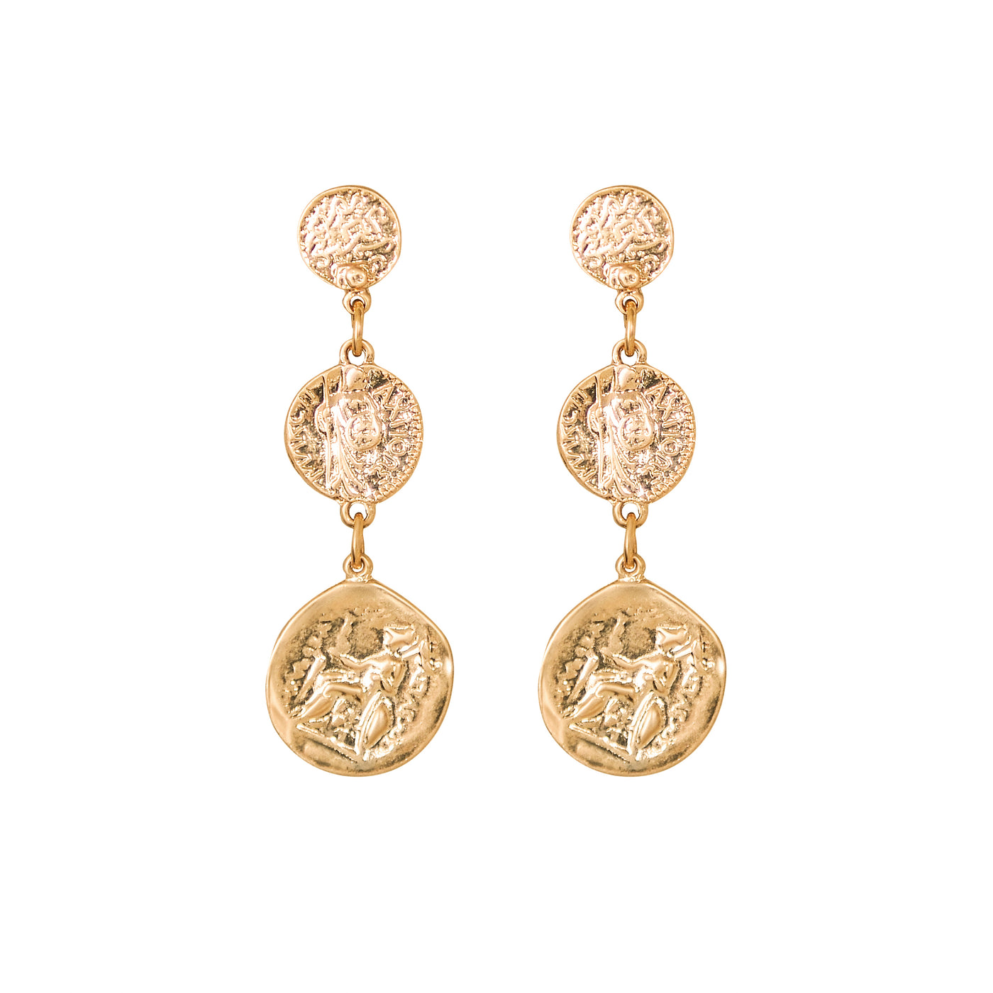 Egyptian Coin Drop Earrings - Marble Hive
