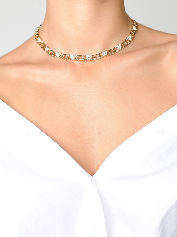 Vintage Inspired Heart Choker - Marble Hive