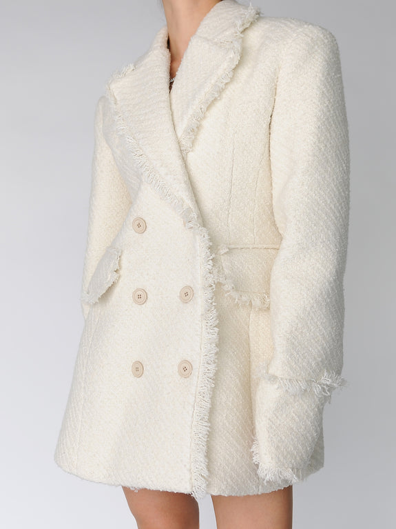 Ivory Hourglass Tweed Blazer Dress - Marble Hive