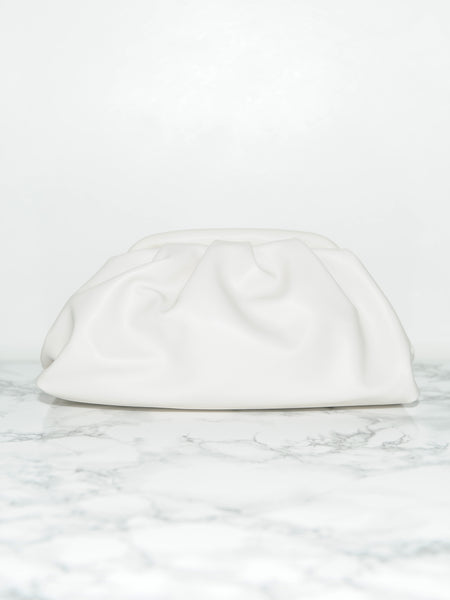 Ivory Frame Leather Clutch - Marble Hive