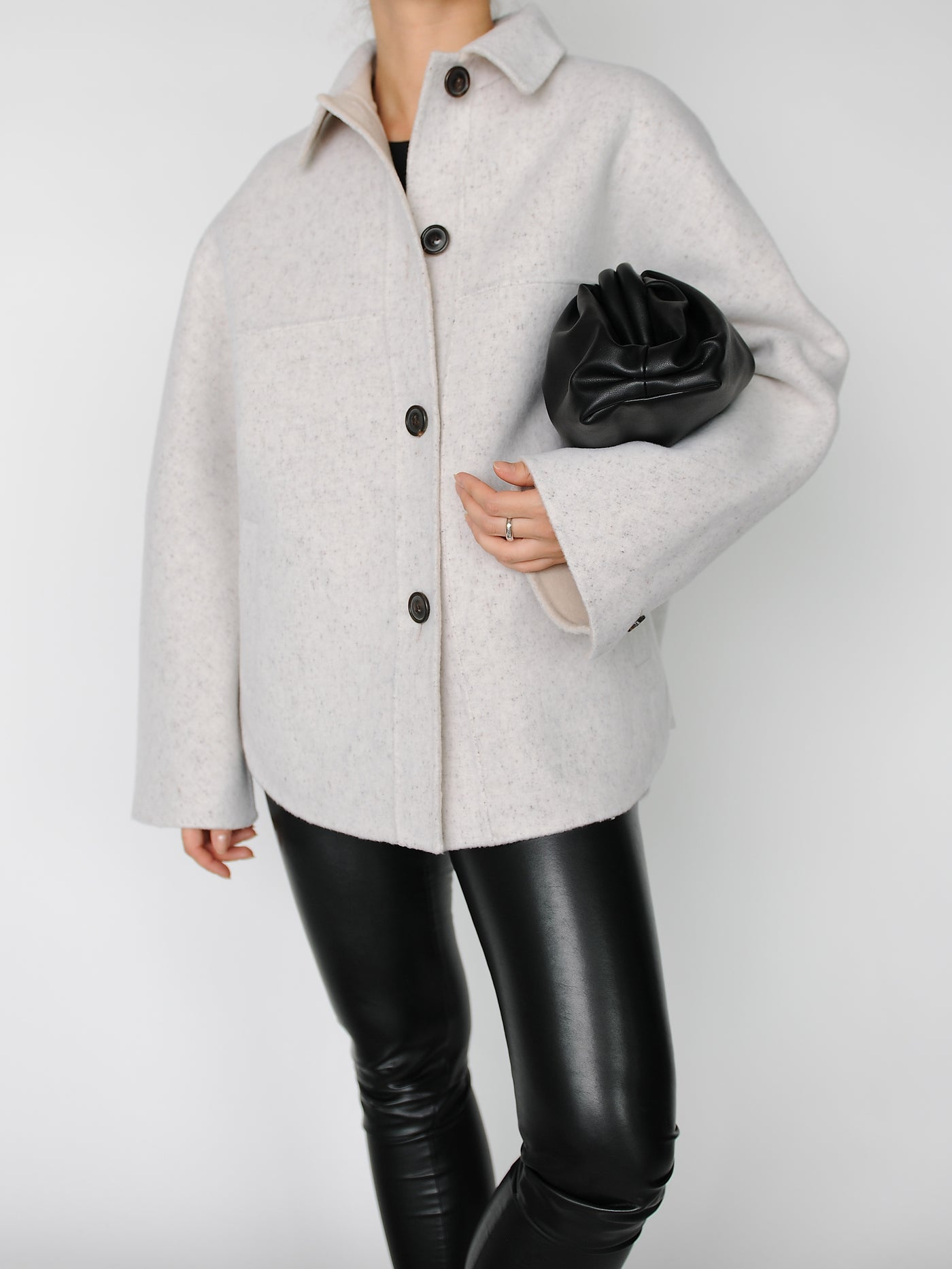 Ivory 2 in 1 Shirt Jacket - Marble Hive