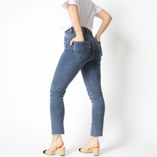 Blue High Waisted Jeans - Marble Hive