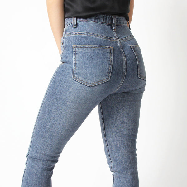 Blue Ultra High Waisted Jeans - Marble Hive