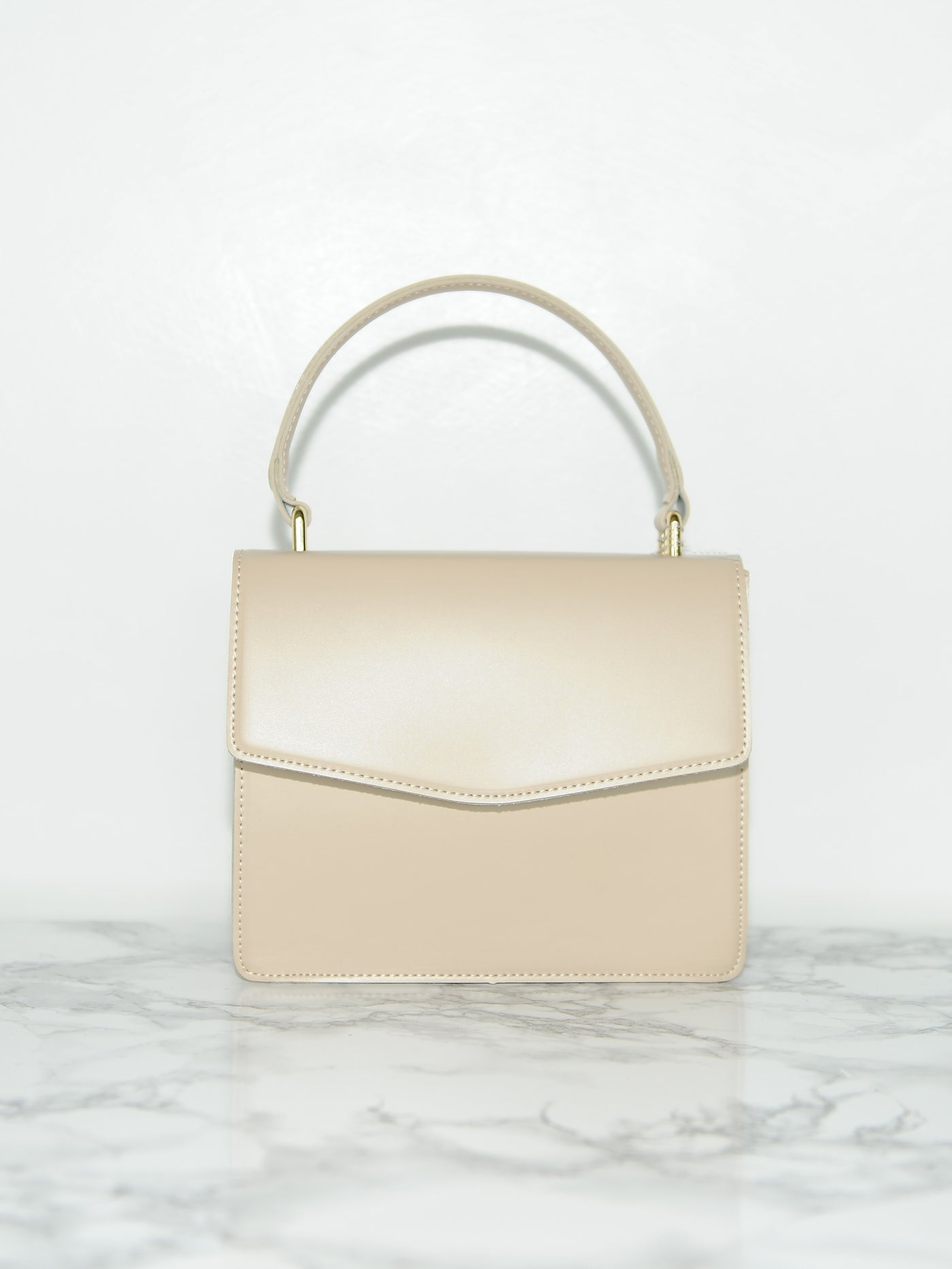 Mini Beige Shoulder Bag - Marble Hive