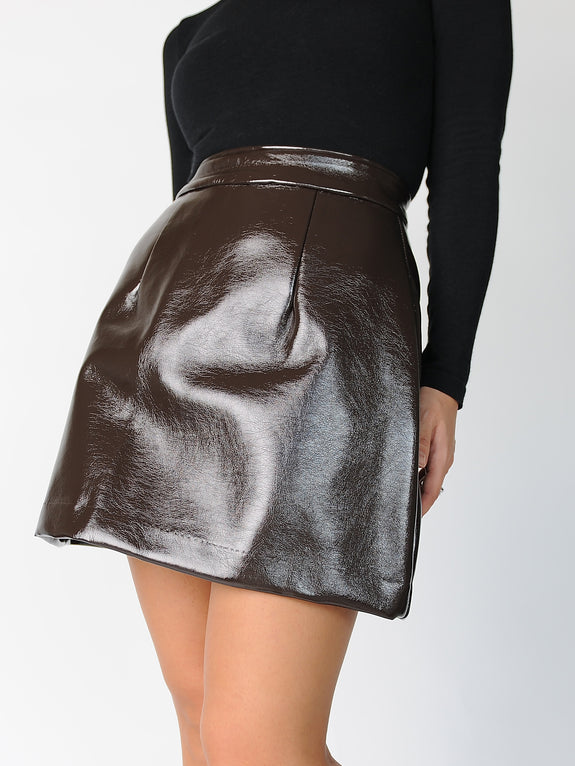 Mini Patent Skirt - Marble Hive