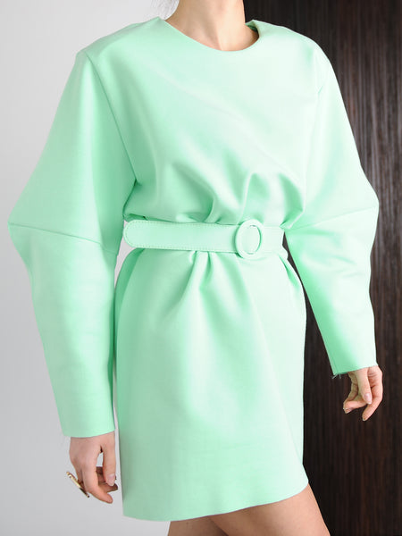 Mint Belted Dress - Marble Hive