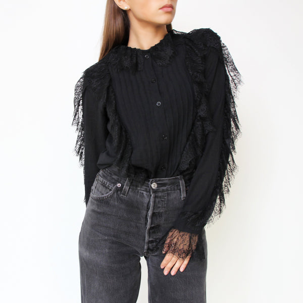 Black Lace Shirt - Marble Hive