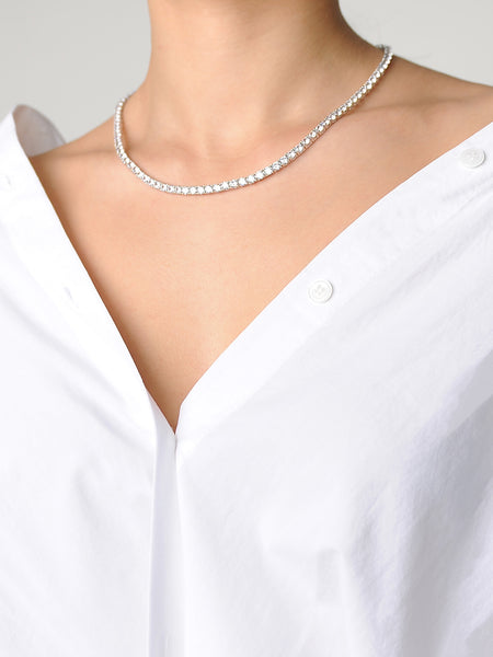 Diamente Necklace Square Setting - Marble Hive