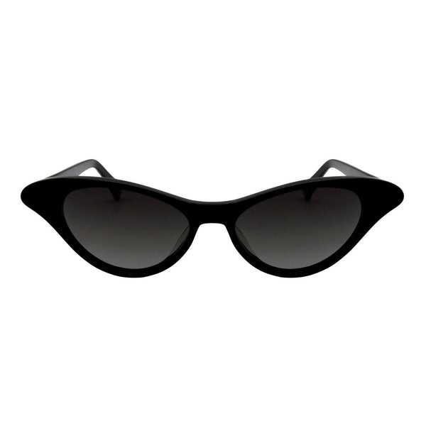 Monroe Shiny Black Sunglasses - Marble Hive
