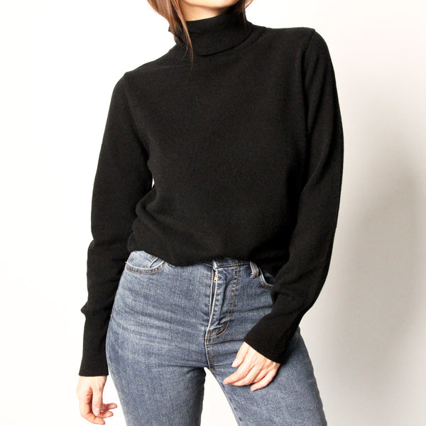 Black Wool Turtleneck - Marble Hive