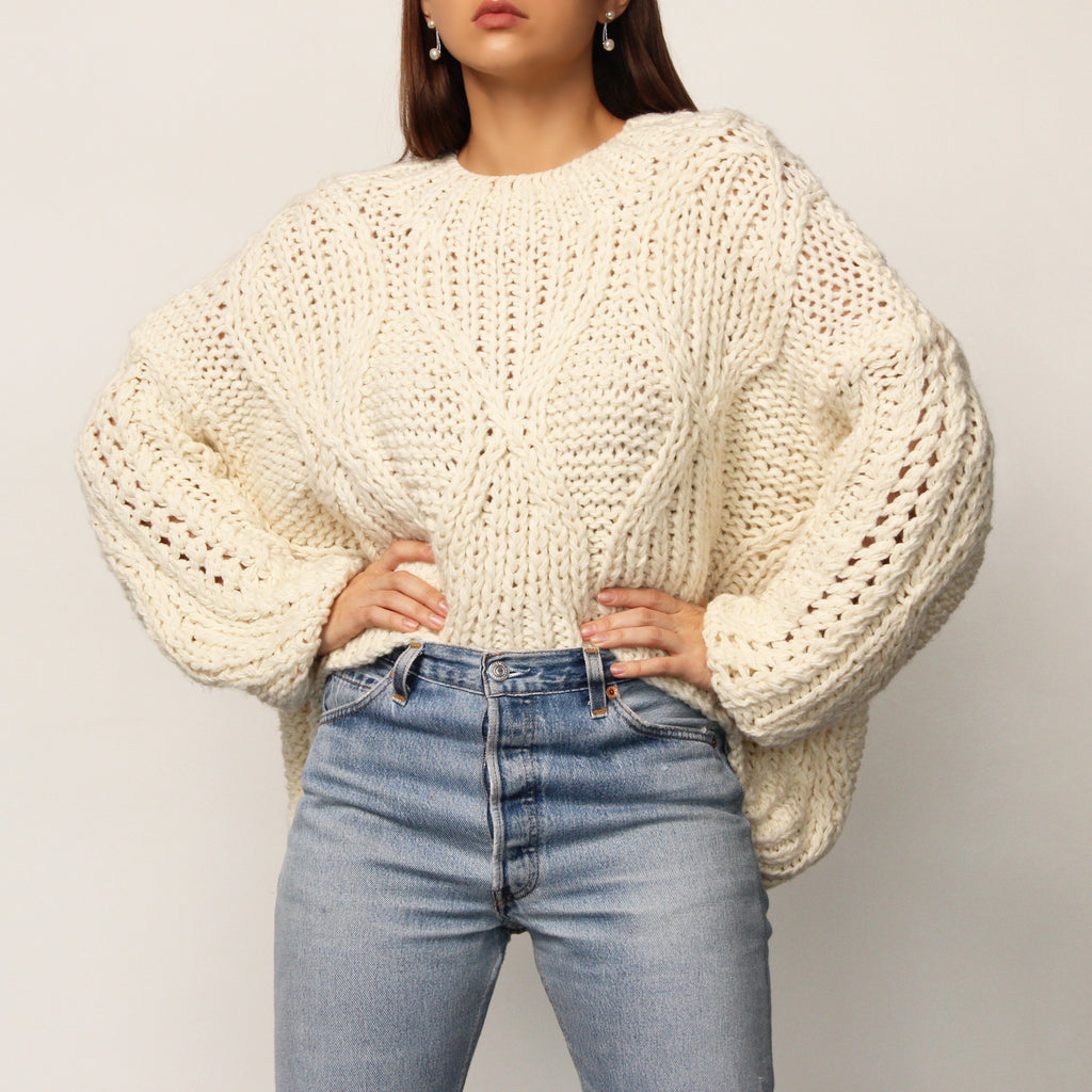 Ivory Original Sweater - Marble Hive