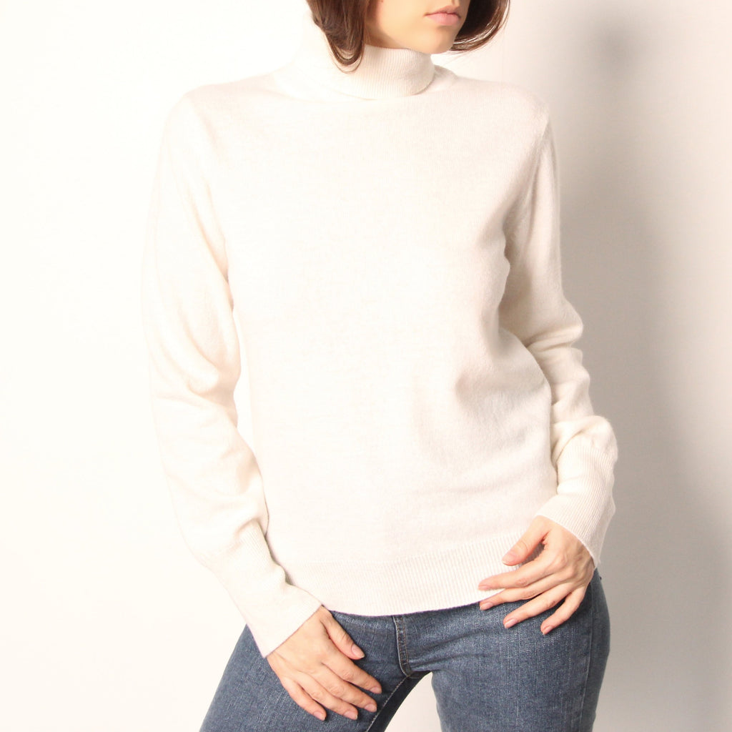 Ivory Wool Turtleneck - Marble Hive