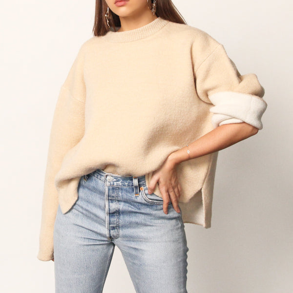 Two Colour Sweater - Marble Hive