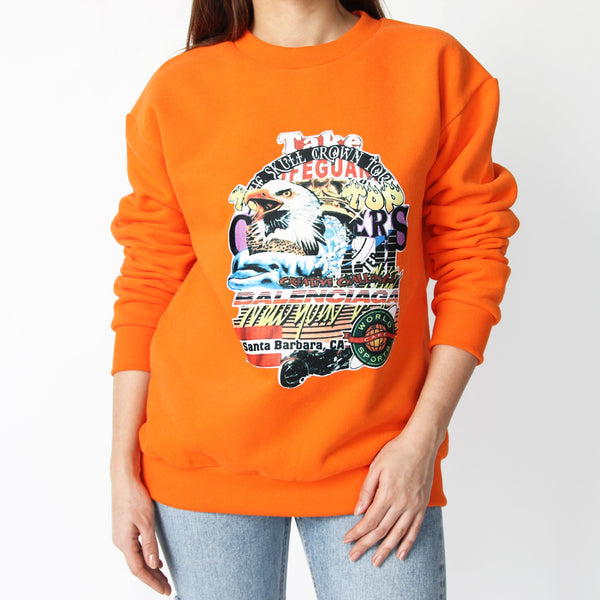 Orange Sweatshirt - Marble Hive