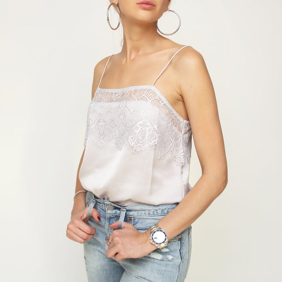 Silk Lace Top - Marble Hive