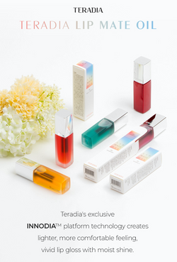 Moisture Coating : INNODIA provides rich moisturizing and shiny gloss on the lip.