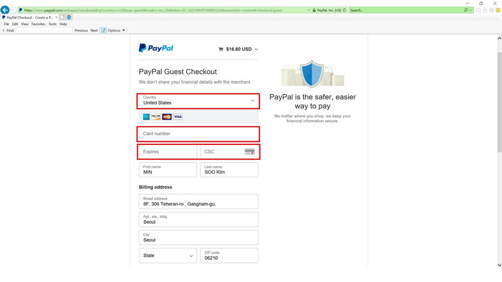 Paypal_Pay with Debit or Credit Card_04