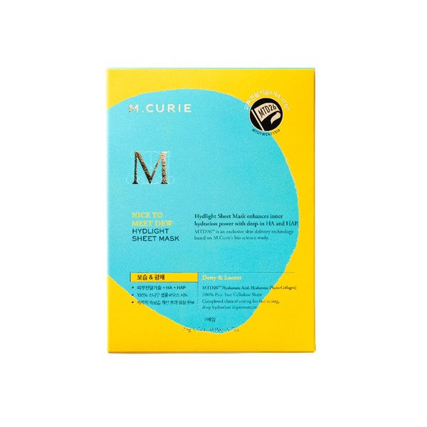 M.CURIE NICE TO MEET DEW HYDLIGHT SHEET MASK SET (7 Sheets)