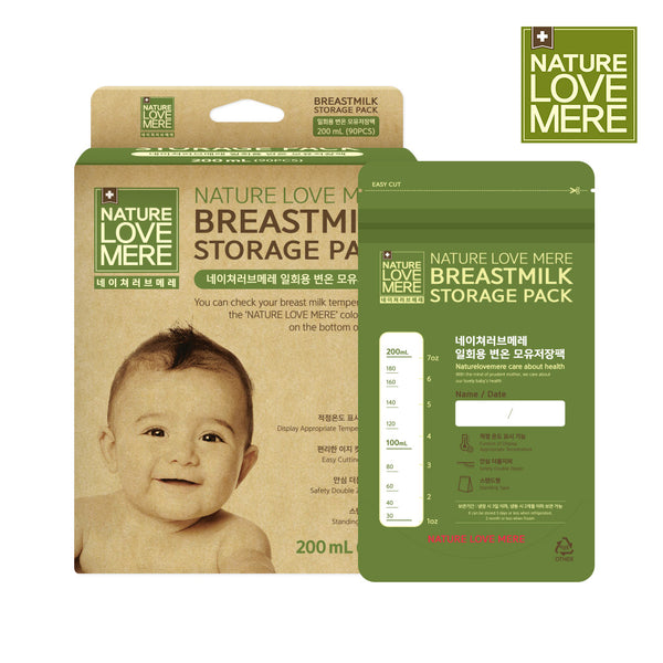 NATURE LOVE MERE Thermic Color Change Breast Milk Storage Pack 200ml - 30pcs (13types)