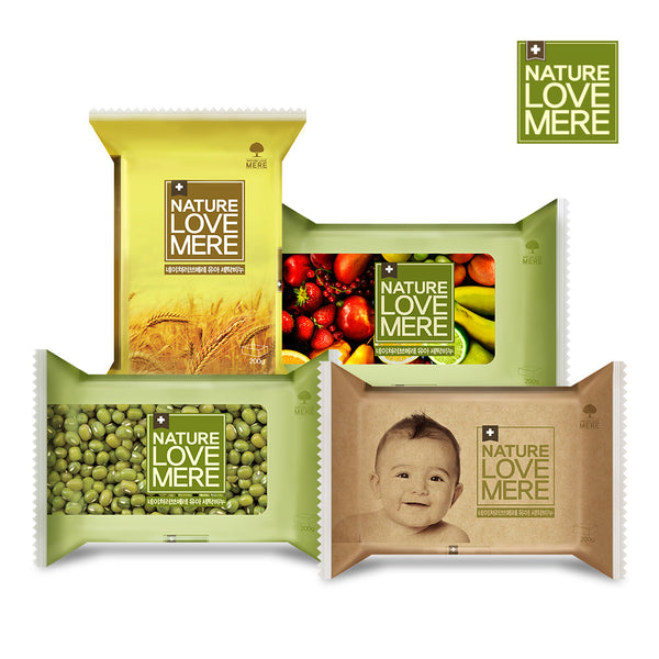 NATURE LOVE MERE Baby Laundry Soap 200g 4types: Mung bean/ Fruit/ Grain/Original