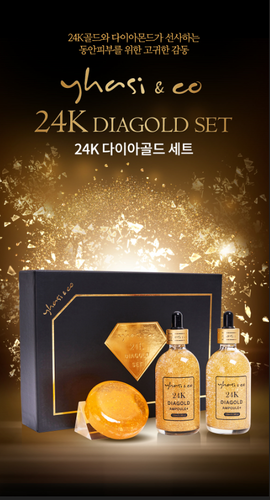 24K Diagold Set - Ampoule, Cleansing Soap
