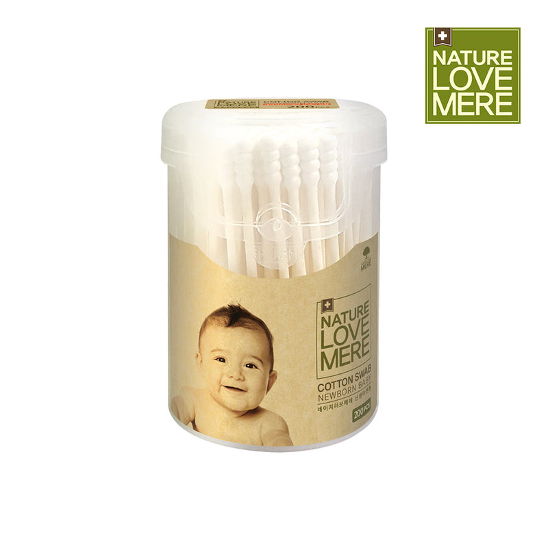 NATURE LOVE MERE Cotton Swab for Newborn baby-200pcs(8types)