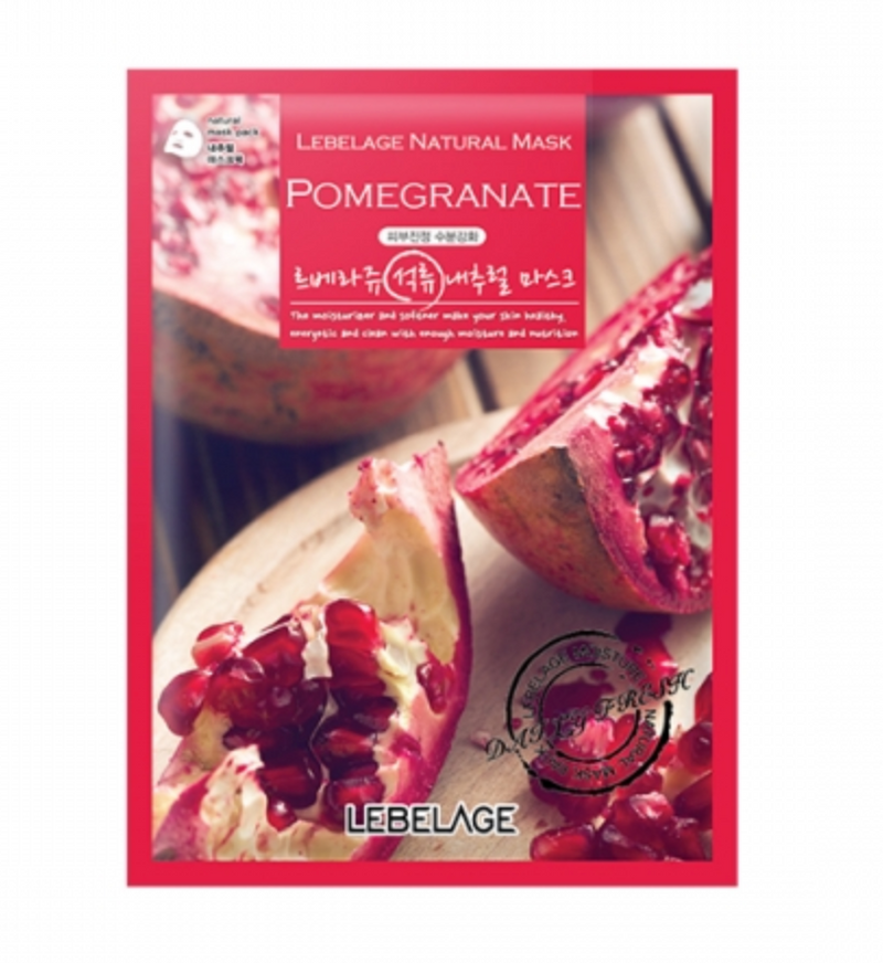 LEBELAGE Pomegranate natural mask (1p) - Dotrade Express. Trusted Korea Manufacturers. Find the best Korean Brands