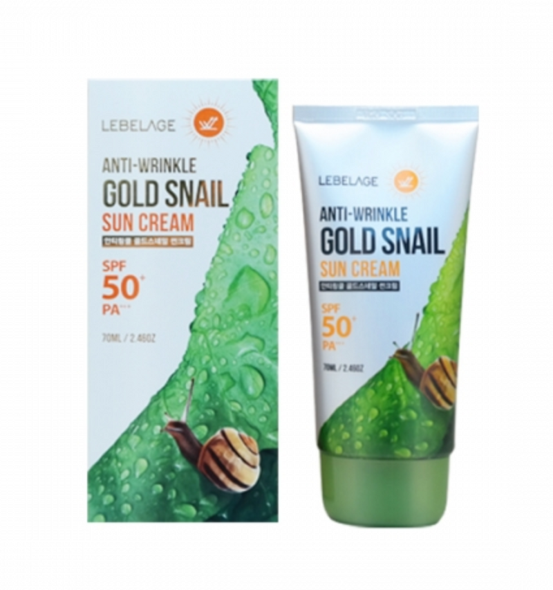 LEBELAGE Anti-Wrinkle Gold Snail Sun Cream - Dotrade Express. Trusted Korea Manufacturers. Find the best Korean Brands
