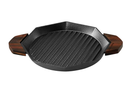 MommysPOT Cast Iron Grill Pan with Dual Handles, Pre-Seasoned, 10.7 Inch  Made in Korea