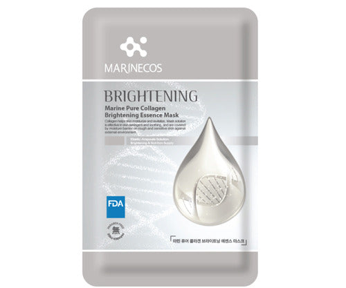 MARINECOS Marine Collagen Brightening Essence Mask - Pack of 10