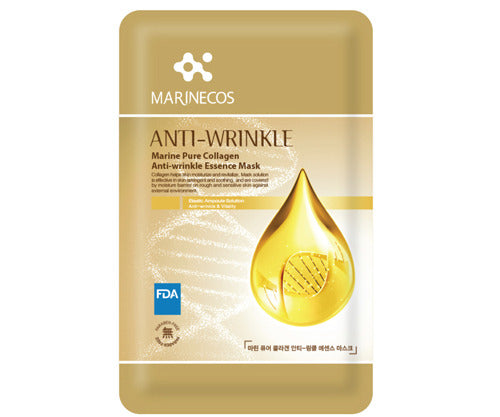 MARINECOS Marine Collagen Anti-Wrinkle Essence Mask - Pack of 10