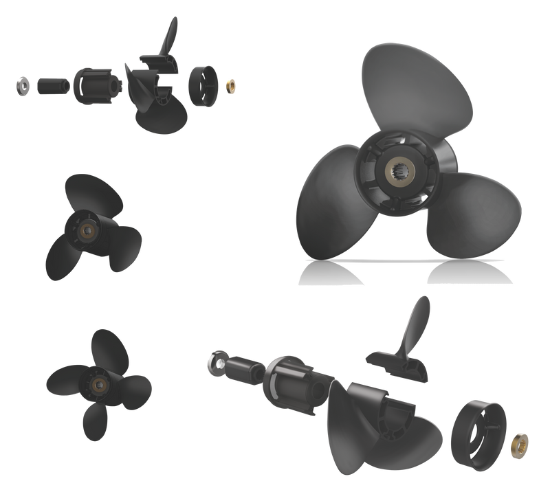 XCOMP YAMAHA C 40~60 HP Set + Hub Kit Blade Replaceable Propeller for Outboard