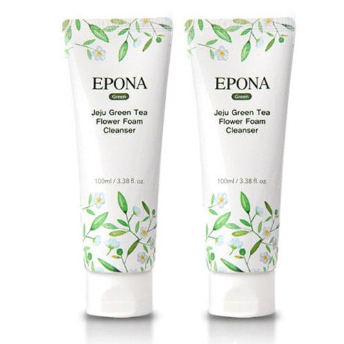 EPONA Jeju Green Tea Flower Foam Cleanser - Pack of 2