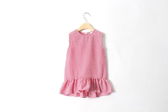 Children's Checked One-Piece Dress - 2 Colors - Dotrade Express. Trusted Korea Manufacturers. Find the best Korean Brands