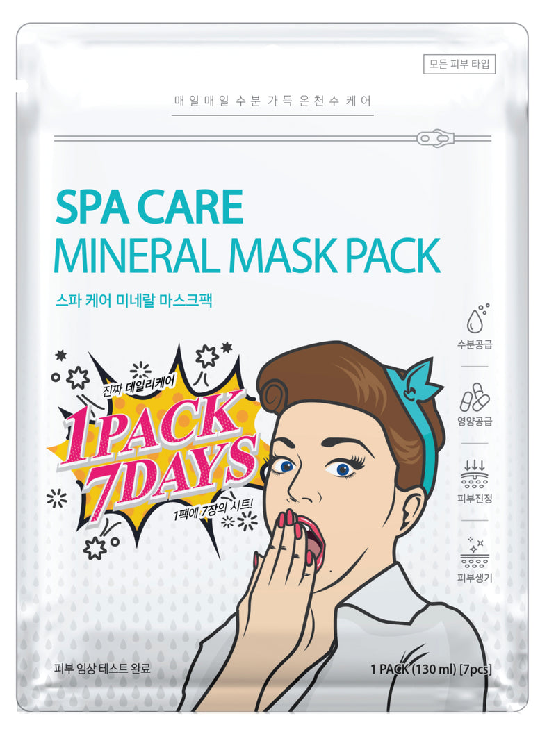 SPA CARE MINERAL MASK PACK 7 Sheet / 1 Pack
