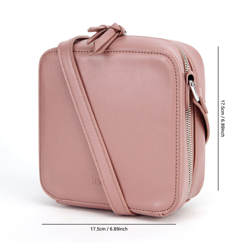 LVEB Mini Cross Body Bag - Dark Pink