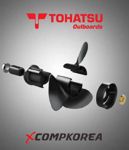 XCOMP TOHATSU C 35~70 HP Set + Hub Kit Blade Replaceable Propeller for Outboard