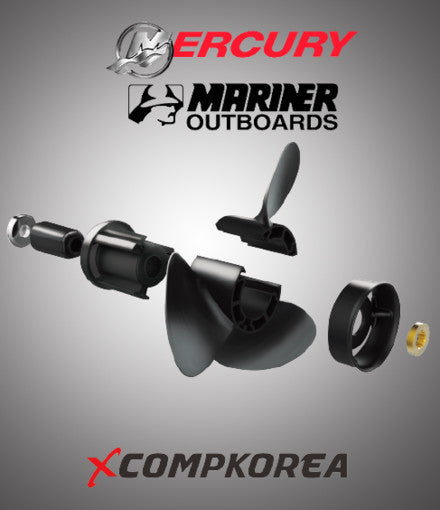 XCOMP MERCURY MARINER D 40~140 HP Set + Hub Kit Blade Replaceable Propeller for Outboard