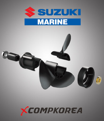 XCOMP SUZUKI D 70~140 HP Set + Hub Kit Blade Replaceable Propeller for Outboard